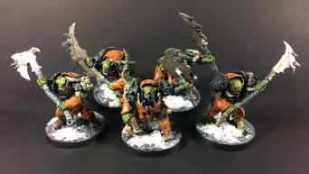 Ironjawz Brutes with Jagged Gore-hackas