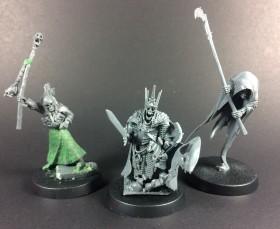 Necromancer, Wight King, Cairn Wraith (L-R)