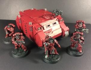 Blood Angels Rhino & Tactical Squad