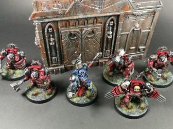 Terminator Assault Squad & Librarian